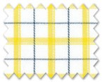 Wrinkle Free Cotton Yellow/Navy Blue Check
