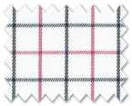 Wrinkle Free Cotton Pink/Navy Blue Check