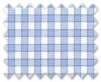 Wrinkle Free Cotton Blue/Light Blue Check