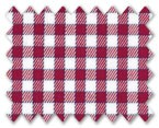 Wrinkle Free Cotton Red/Light Red Check