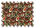 Superfine Pure Cotton White with Red/Black/Beige Printed