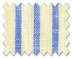 Linen Yellow/Blue Stripe