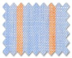 Linen Light Blue/Orange Stripe