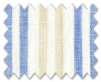 Linen Light Beige/Blue/Cream Stripe