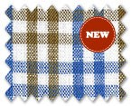 Linen Blue/Brown Check