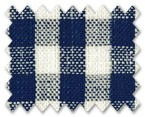 Linen Navy Blue Check