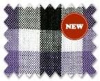 Linen White/Black/Purple Check