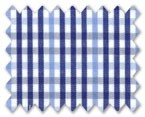 100% Cotton Light Blue/Dark Blue Check