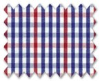 100% Cotton Dark Blue/Red Check