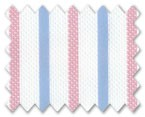 Wrinkle Free Cotton Light Blue/Pink Stripe