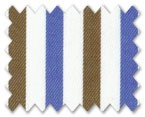 100% Cotton Blue/Brown Stripe