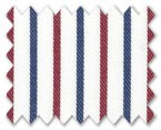 100% Cotton Dark Blue/Red Stripe