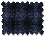 Marzoni Cashmere Wool Navy with Light Blue Check