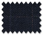 Marzoni Silk Cashmere Dark Blue with Blue/Brown Check