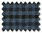 Marzoni Silk Cashmere Dark Blue with Blue Check