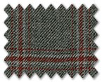 Marzoni Silk Cashmere Grey with Red/White Check