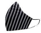 Black Stripes Cotton Face Mask
