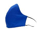 Plain Blue Cotton Face Mask